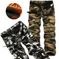 Size29-40 100% Algodão Novidade Homens Casuais Soltos Calças Largas de Carga Militar Do Exército Calças de Camuflagem Homens Pantalones Hombre