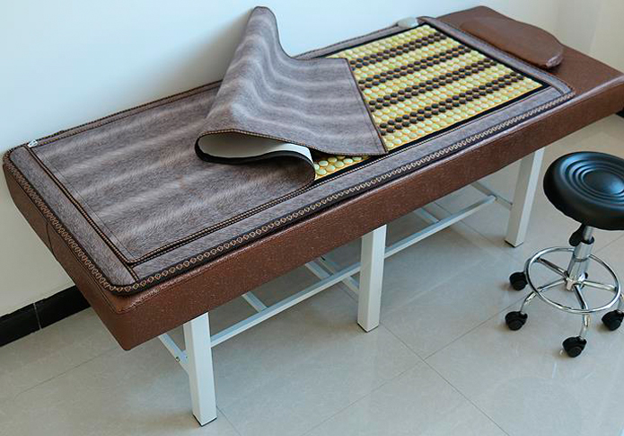 Health Care Magnetic Jade&tourmaline mixed stone infrared heating negative ion natural jade electric heating mattress 0.7X1.6M