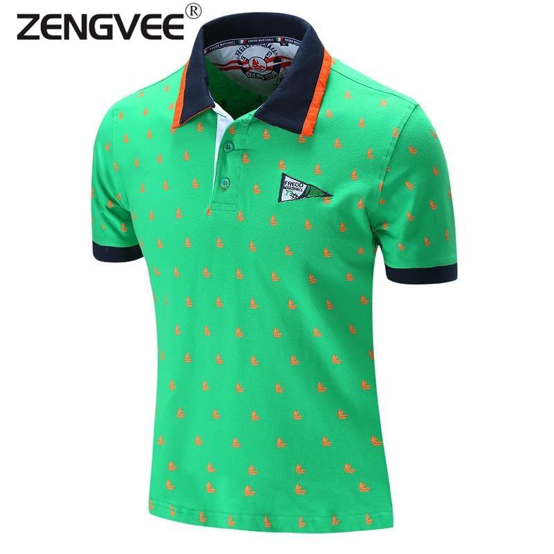 b372f346 New Brand Men's Polo Shirts Summer Sportwear Style Cotton Short Sleeve  Embroidery Knitwear Fashion Western Style