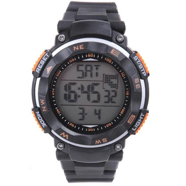 As novas idéias de 50 metros à prova d' água LED relógio digital esportes homens relógios relógios luminosos multifuncionais estudantes do sexo masculino