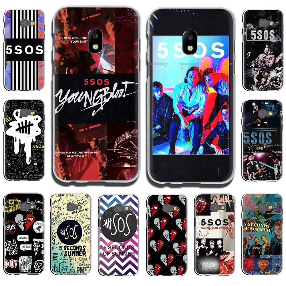 5 Seconds of Summer 5SOS Hard Phone Case for Samsung Galaxy J6 J5 J1 J2 J3 J7 2017 2016 2015 Prime J7 EU Version