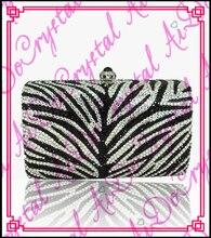 Aidocrystal schwarz-weiß-handtaschen für partei kristall mode handgefertigte dame tragen kupplung taschen und geldbeutel