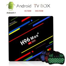 H96 Max Plus TV Box Android 8.1 Smart TV 4 K IPTV Set-top Box H.265 Media Player 4G 64G + i8 Backlit Toetsenbord Wireless Air Mouse(China)