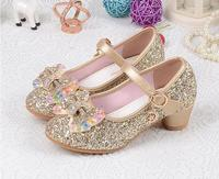 Girls Princess Shoes 2017 Hot Sale Spring Autumn Children S Fashion Breathable Rhinestone Mid Heel Single