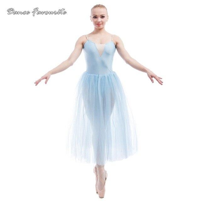 5d3d2d02c36 Vente chaude Longue Romantique Ballet Tutu Fille et Lady Représentation  Théâtrale Costume de Ballet Ballerine De