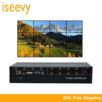 ISEEVY 12 Channel Video Wall Controller 3x4 HDMI DVI VGA USB Video Processor with RS232 Control for 12 TV Splicing