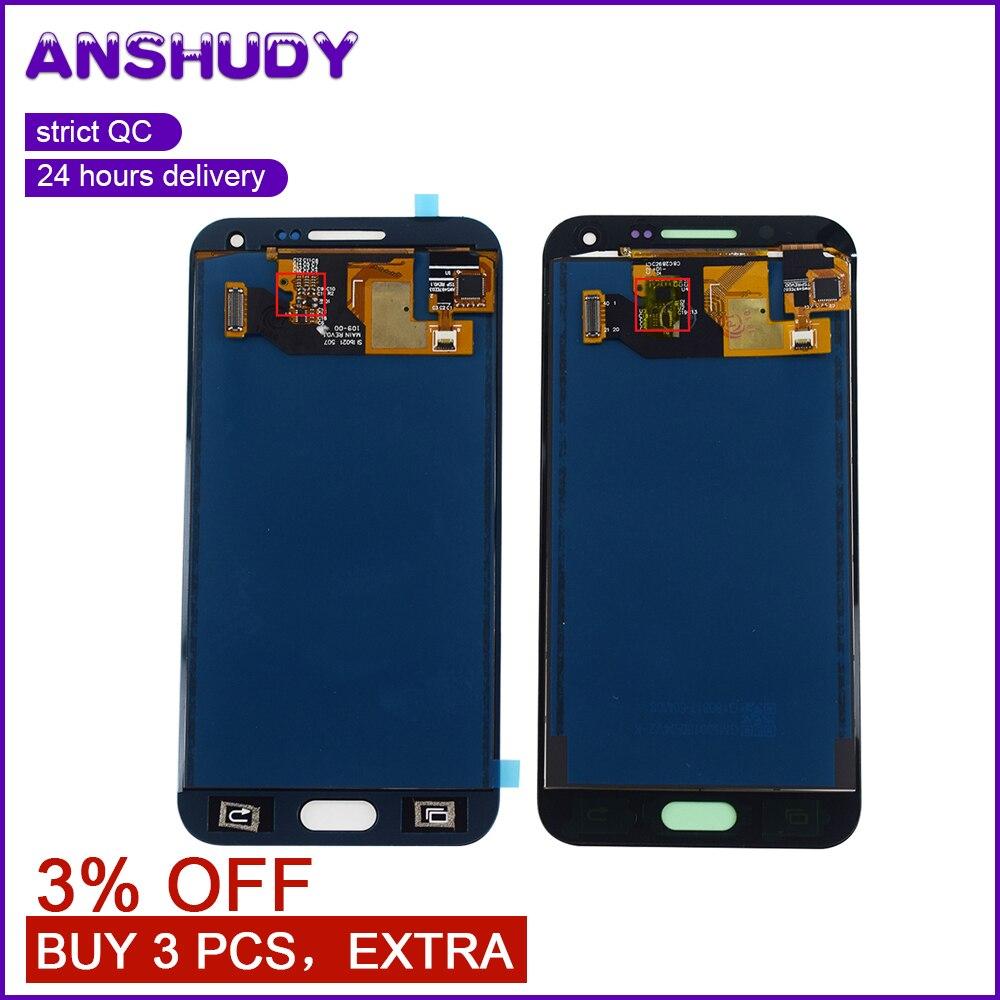 E500F LCD para Samsung E5 pantalla táctil digitalizador de montaje de pantalla para Samsung Galaxy E5 E500 pantalla E500H E500M pantalla LCD