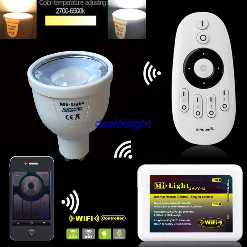 Ми. light 2.4 г 5 Вт GU10 CCT двойной белый светодиодный лампы fut011 + WiFi ibox2 + Бес ...