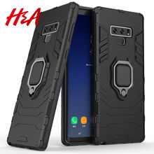 H&A Finger Ring Holder Phone Case For Samsung Galaxy A5 A7 A8 Plus 2018 Protective Case For Samsung J4 J6 Note 9 Cover Case(China)