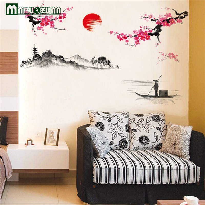 -Hot-Sun-Plum-Flower-Decoration-On-The-Wall-The-Sitting-Room-The-Bedroom-Wall-Stick (3)