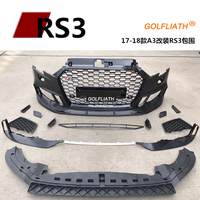 Newest RS3 style PP+ABS front bumper kits body kit Assembly center grille For Audi A3 2017 2018 sedan