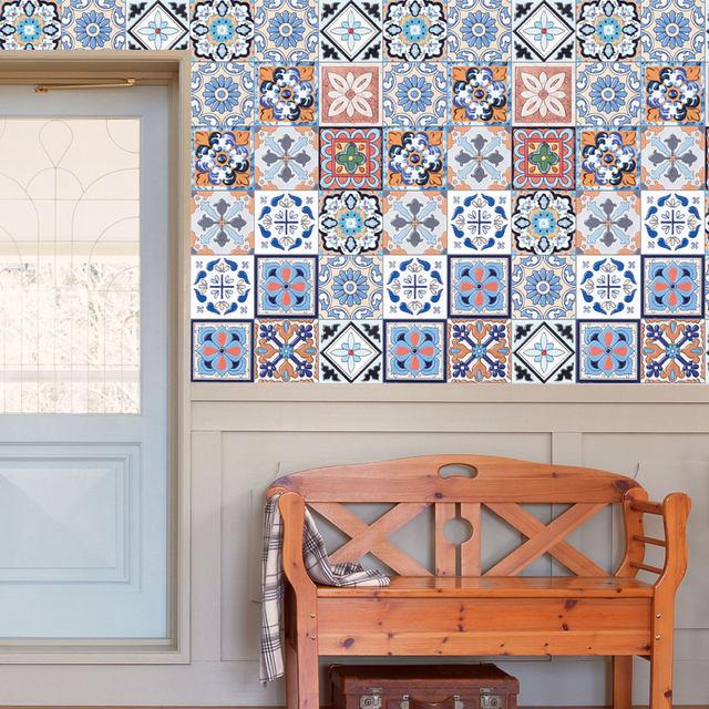 Online Shop Vintage Wand Aufkleber Mediterranen Stil Fliesen Aufkleber Bad  Küche Aufkleber Pvc Wand Aufkleber Wand Aufkleber Muraux Wand Papiere Kunst  DIY ...