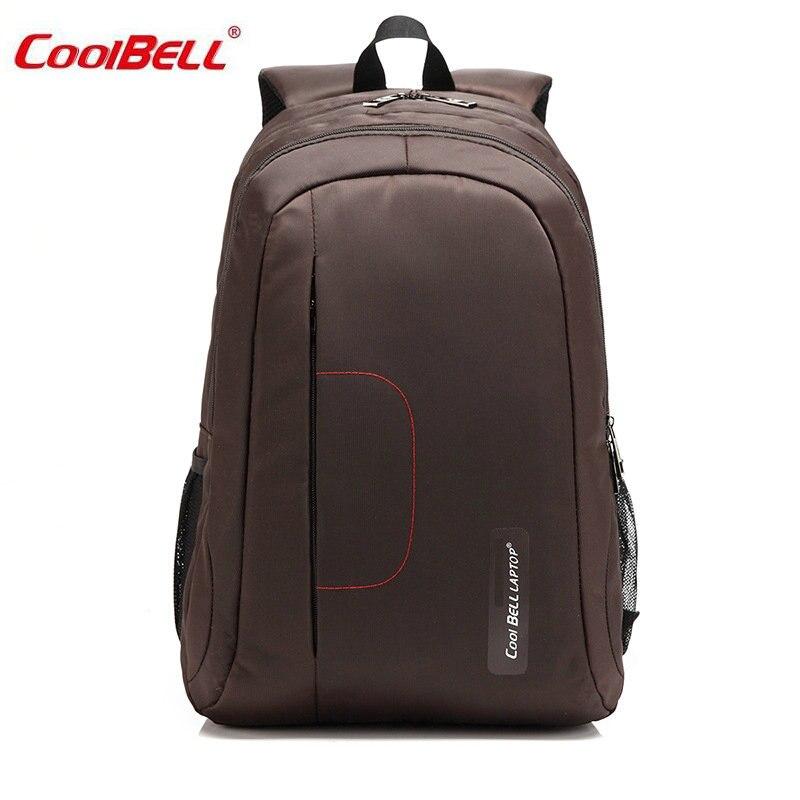 COOLBELL 15 Laptop Bag Waterproof Nylon Men Backpack Solid Computer Sucksack New Fashion Notebook Bags Black/Pink/Coffee -FF