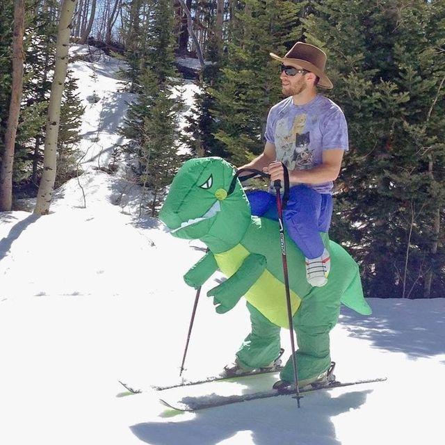 Purim Trajes Fan Operado T-rex Dinosaurio Inflable Airblown Traje Traje Dino Piloto de Disfraces para Niños y Adultos