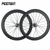 23mm width 60mm ruedas de carbono Clincher track wheels single speed wheelset with Aero FJH / Pillar PSR1423 and sapim CX spokes