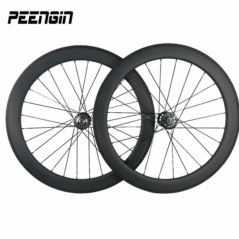 23mm width 60mm ruedas de carbono Clincher track wheels single speed wheelset with Aero FJH / Pillar PSR1423 and sapim CX spokes|wheelsets bike|wheelset 20mm|wheelset 700c -