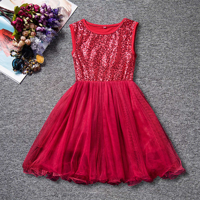 326a26e70d11f Summer Sequined Girl Dresses Wedding Party Kids Tutu Birthday Princess  Dress for Girls Infant Children Clothing Girl Baby Wear