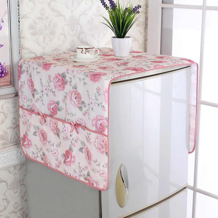 fabric lace refrigerator cover dust cover towel curtain drum type washing machine cloth single door double door open door