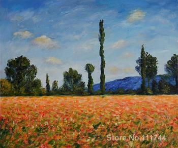 Field of Poppies II Claude Monet Paintings for sale wall art High quality Hand painted