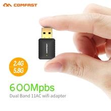 Comfast cf-915ac 802.11ac tarjeta de red inalámbrica usb 600 mbps de banda dual 2.4 ghz/5 ghz wireless usb/wifi adaptador de ca y ca wi-fi dongle