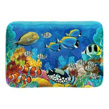Home Door Mat Underwater Scenery Tropical Fish Doormats Indoor Outdoor Mats Soft lighteness Short Plush Fabric Bathroom Mats