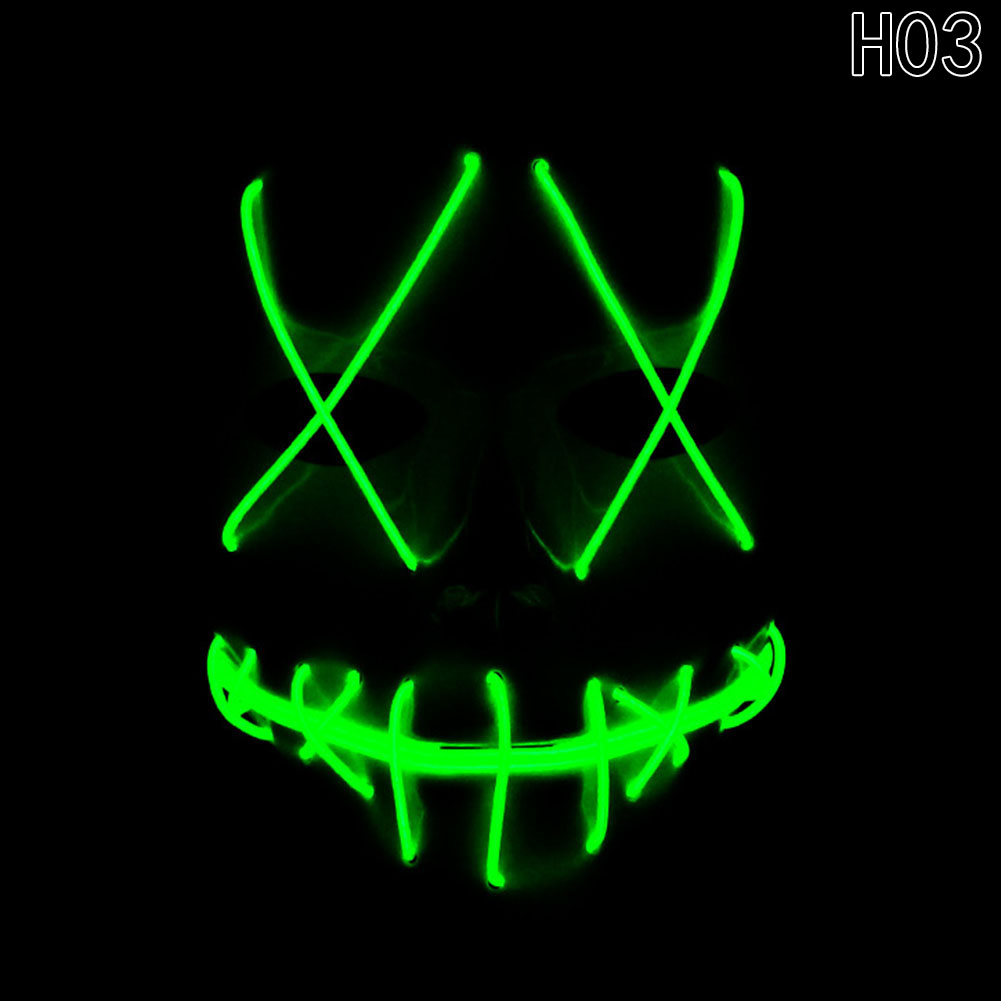 HTB15C4SaDZRMeJjSspnq6AJdFXaT - 1 Piece Halloween ghost Slit mouth light up glowing LED Mask Costume PTC 259