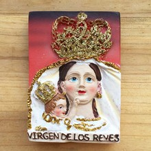 Spain Sevilla Santa Cruz and the cathedral Reyes Goddess of faith travel memorial refrigerator stickers