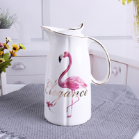 1100ML Ceramic Pitchers Water Bottles Cold Kettle No Explosion Jug Large Capacity Household Ceramic Thermos