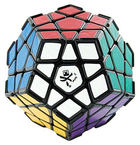 Dayan Megaminx Dodecahedron Cubo Mágico Puzzle Cube con Esquina Ridges Negro Gran Niños Educativo Juguete Curvas