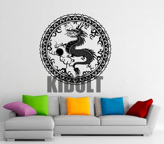 Chinese Dragon Wall Stickers Bedroom Studio Home Decoration Vinyl - Custom vinyl wall decals dragon