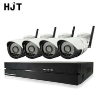 HJT 4CH Wireless Wifi 1080P IP Camera System IR Night 8CH Record NVR CCTV Surveillance Security