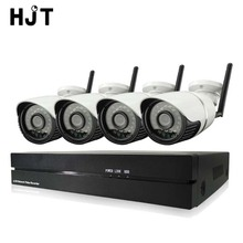 HJT 4CH Wireless Wifi 1080P IP Camera System IR Night 8CH Record NVR CCTV Surveillance Security Kit Onvif P2P H.264 Outdoor SONY