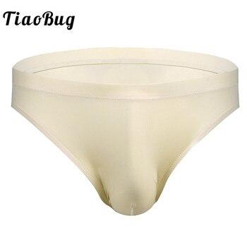 TiaoBug, calzoncillos sexis de LICRA para hombre, ropa interior de cintura baja, bolsa frontal para hombre con cintura elástica, calzoncillos transpirables