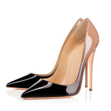 New Gradient Color Leather Office Shoes Sweet Women Spring Summer High Heeled Dress Party Sexy Lady Pumps TL-A0111