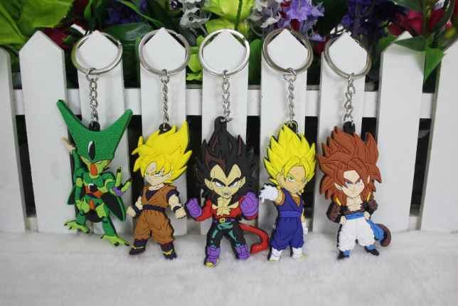 5 pçs/lote venda Quente Anime Dos Desenhos Animados Dragon Ball Z Son Goku Vegeta Figura PVC Ação Brinquedos Chaveiros Pingentes