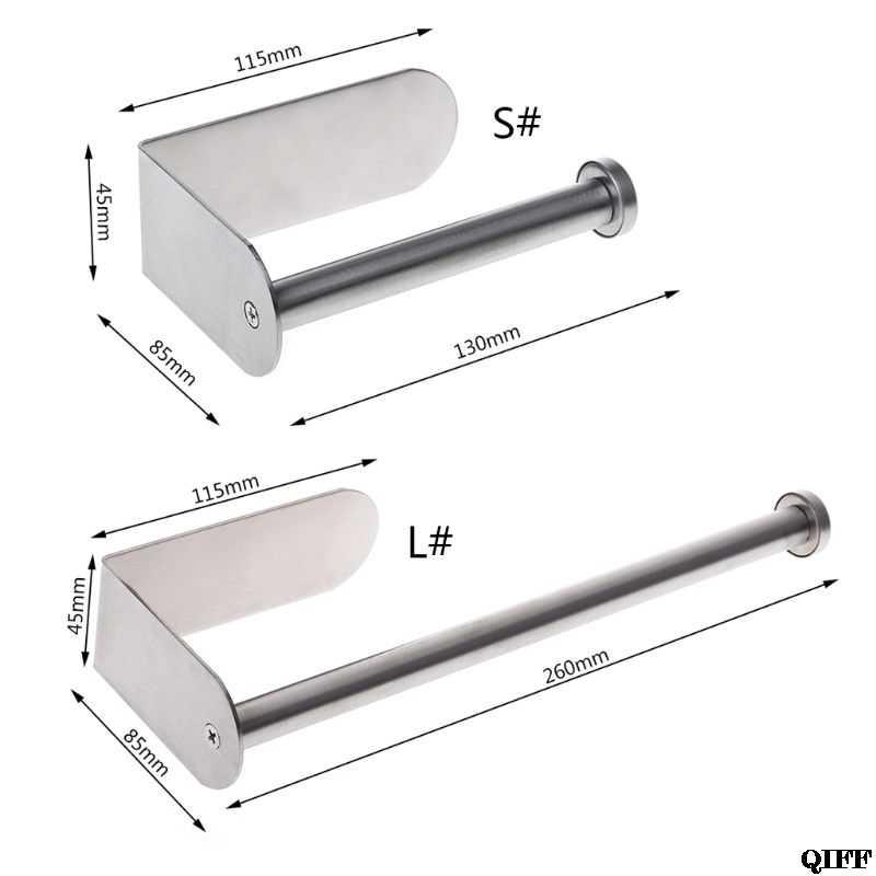 粘着垂直紙タオルホルダーステンレス鋼壁マウント浴室台所トイレティッシュロール収納ラックJun13