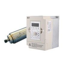 цены на 1.5kw water cooled spindle motor ER16 collet D65mm L230mm AC220V & 1.5kw 220v BEST VFD Inverter Variable Frequency Drive  в интернет-магазинах