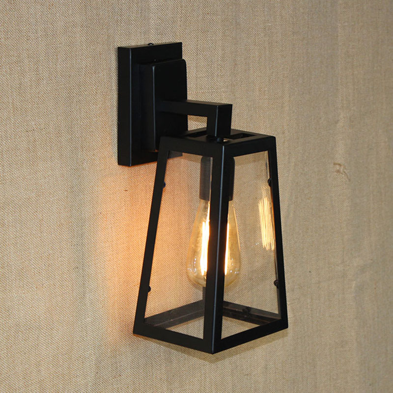 American country style loft  glass lamp shade wall lamp for dining room/Bedroom/corridor/living room/Cafe  E27 110V-240V