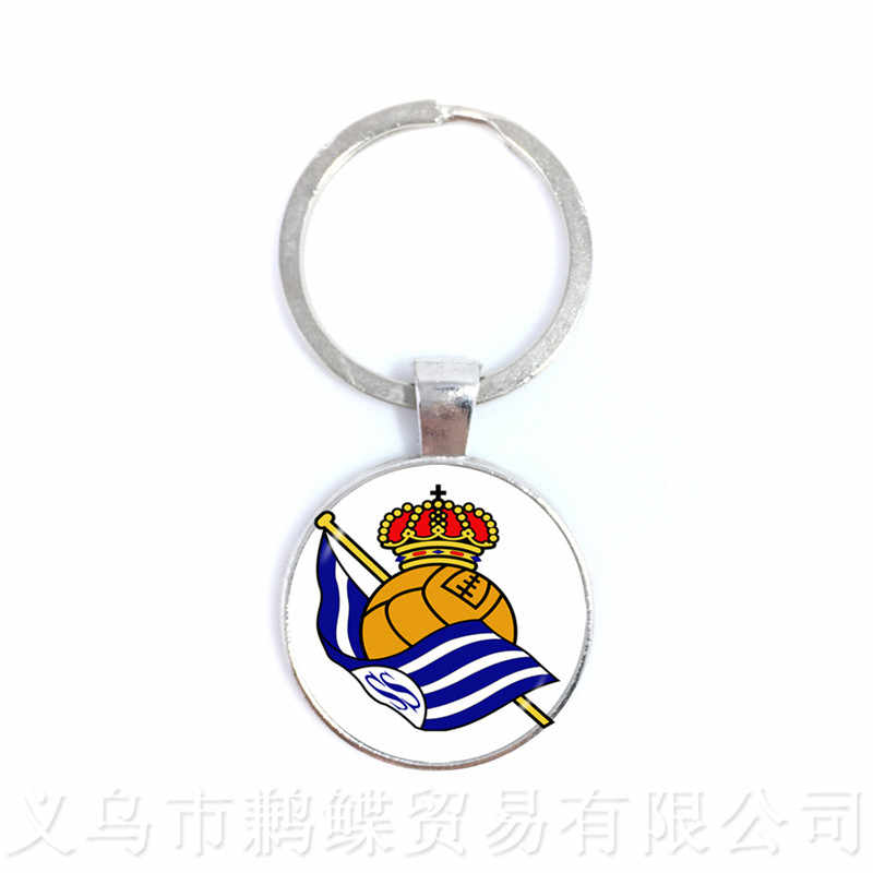 2018 New Spanish League Club Football Keychain Classic Football Team Logo Pendant Keyring Fans Souvenir Gifts