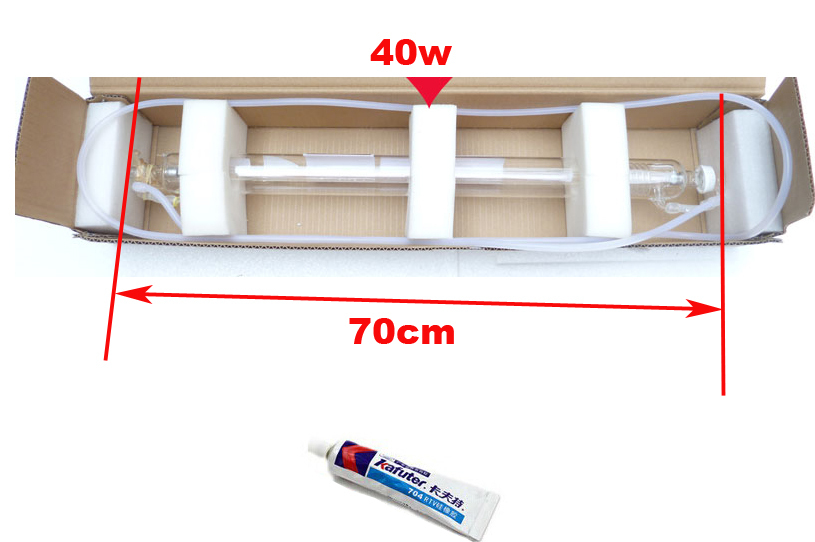 Best Quality 700MM 40W Co2 Laser Tube for Engraver Cutting Machine Water Pipe Kafuter Silicone Rubber