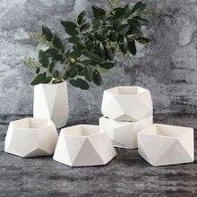 Nieuwe Siliconen Beton Schimmel Geometrische Bloempotten Cement Vaas Handgemaakte Planter Multi-bloem Plaat Tuin Decora