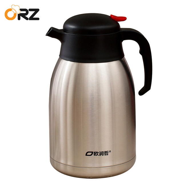 Orz 2l Stainless Steel Thermos Flask Water Coffee Tea Bottle Vacuum Hot Cold Push