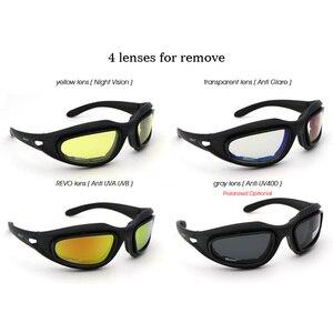 Image 5 - Daisy C5 gafas de sol militares polarizadas para hombre, Kit de 4 lentes para hombre, juego táctico de guerra y tormenta en el desierto, gafas deportivas