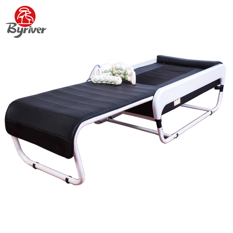 BYRIVER Portable Electric Therapy 3D Auto Scan APMS MP3 Music Korea Jade Stone Thermal Folding Massage Bed Table Massager marta pecourt gracia enhancing communication in music therapy