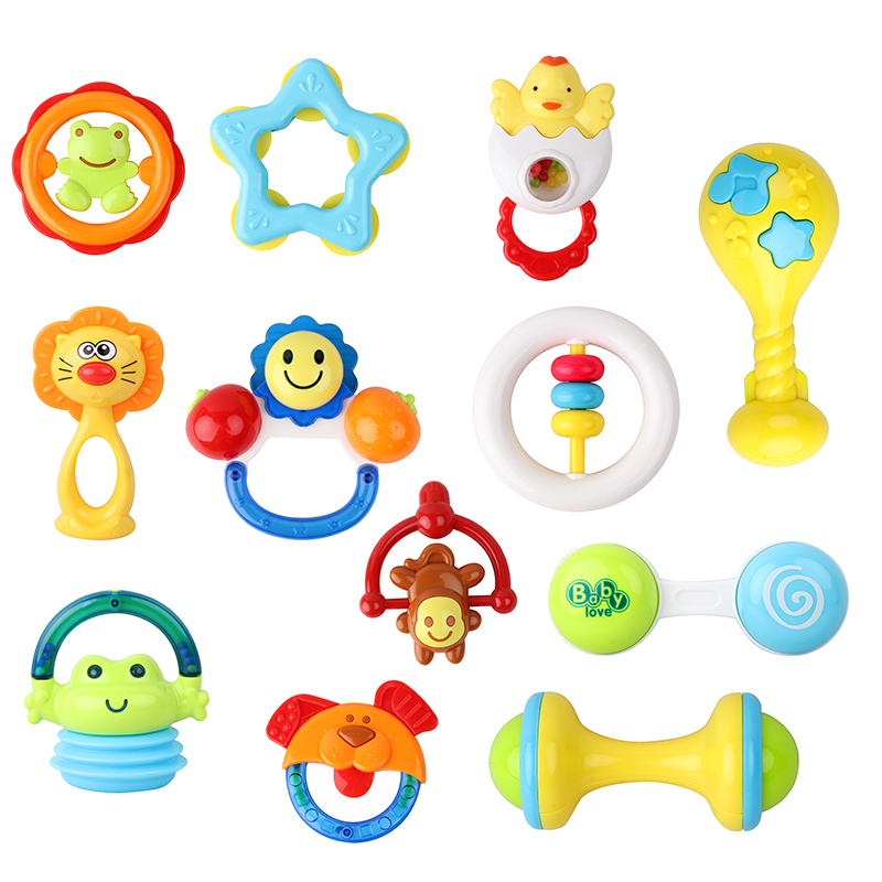 12PCS մանկական խաղալիքներ 0-12 ամիս ձեռքի - Խաղալիքներ նորածինների համար - Լուսանկար 1