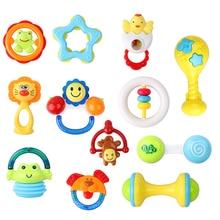 12 STÜCKE baby spielzeug 0-12 monat Handschütteln Bell Ring Rasseln Säugling Kinderkrankheiten Lustige Spiele Spielzeug Geschenk Set mit Babyflasche Lagerung)