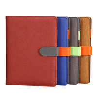 RuiZe Business Office Notebook B5 A5 Spiral Notepad Leather Cover Creative Stationery Ring Binder Loose Leaf