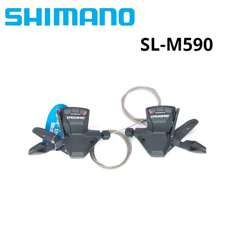 Shimano DEORE SL M590 9 S 27 S 9 vitesses vélo manette de vitesse levier déclencheur vtt pièces de vélo manettes de vitesse avec câble une paire