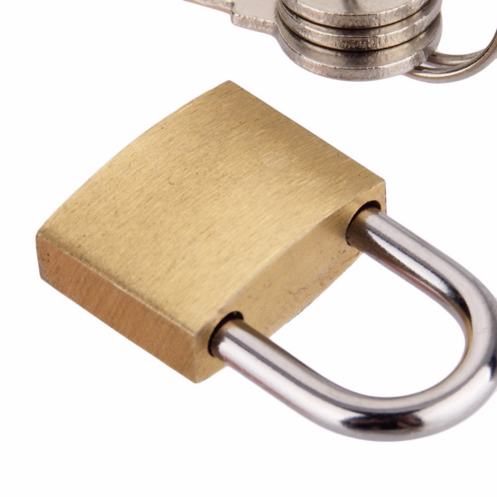 20 Pcs/ Lot Luggage Hardware Accessories Spring Lock Decorate The Padlock Round Lock There Is No Key Switch Lock Small Size Bag Parts & Accessories
