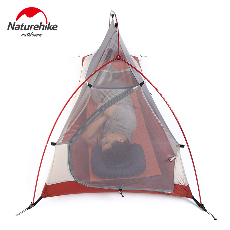 Naturehike Outdoor Tent 3 Person 210T/ 20D Silicone Fabric Double-layer Camping Tent Ultralight Family Tent Aluminum Pole 5